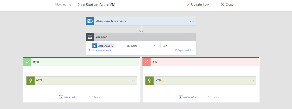 Manually Stop Start Azure VMs using PowerApps and Flow | Code
